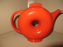 HALL Chnese Red DONUT TEAPOT - Mint Condtion - $199.99