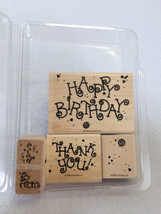 Stampin Up Celebrations Happy Birthday Thank You To From Stamp Set 1994 - $7.99