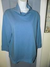 FRESH PRODUCE Blue Turtle Neck Long Sleeve Size M Women's EUC - $20.80