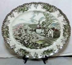 "Johnson Bros Friendly Village Green 11 3/4"" Serving Platter Vintage England - $29.99"