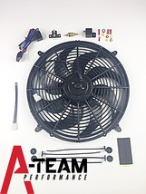 A-Team Performance Radiator Electric Cooling Fan 16inch Heavy Duty 12V Wide Curv image 2