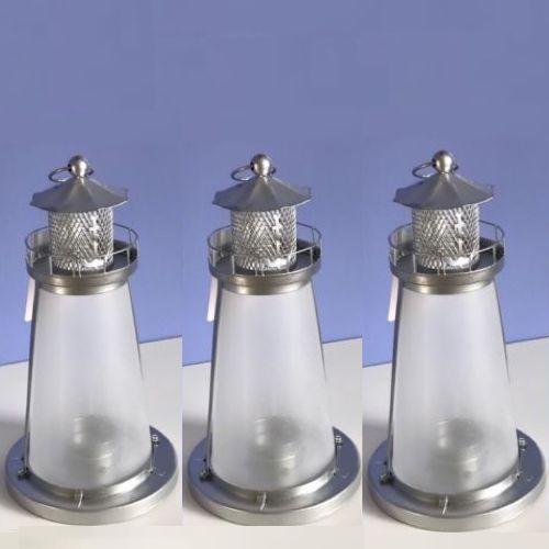 Lot 15 White Frosted Lighthouse Lantern Candleholder Table Decor Wedding Centerp image 3