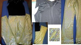Adult Size Medium Costume Gallery Jazz Dance Costume Outfit Yellow Black... - $32.00
