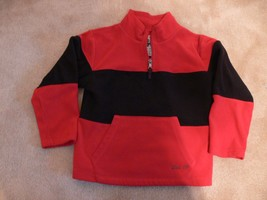 Childrens Place Boys Red Black Fleece 1/4 zip up Pullover Jacket Size S 5-6 nb - $8.50