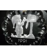 Enesco Christmas Ornament 1991 Precious Moments Lead Crystal Butcher Ger... - $7.99