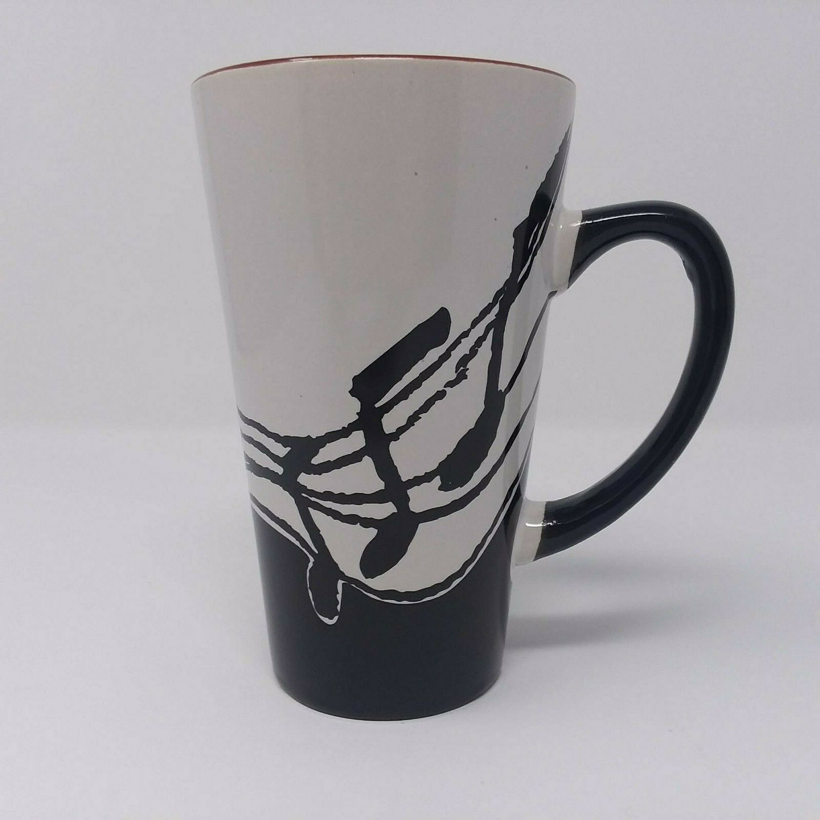 Primary image for Music Notes Ceramic Coffee Tea Mug Cup Albert Elovitz Aim Gifts Black White 2007