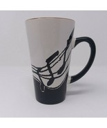 Music Notes Ceramic Coffee Tea Mug Cup Albert Elovitz Aim Gifts Black Wh... - $10.36