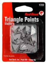 "Red Devil 1722 Large Glazing Triangle Points, 1/2"" edge length - $5.43"