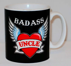 Badass Uncle Mug Can PERSONALISE Great Father's Day Coffee Cup Biker Funny Gift image 3