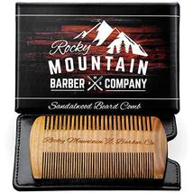 Beard Comb - Natural Sandal Wood for Hair with Scented Fragrance Smell with Anti image 2