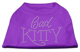 Bad Kitty Rhinestud Shirt Purple XL (16) - $12.98