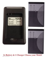 2x Replacement Cellphone phone battery BL-5C and wall charger for Many N... - $60.49
