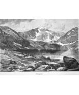 ROCKY MOUNTAINS Colorado Lake Chicago by Thomas Moran - 1883 German Print - $16.20