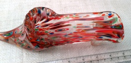 Beautiful Multi-colored Art Glass Slipper / Shoe image 2