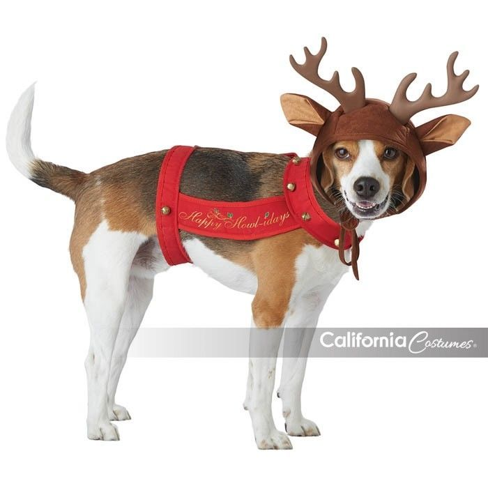 California Costumes Reindeer Pet Animal Dog Christmas Xmas Costume PET20155