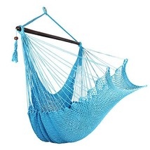 Bathonly Large Caribbean Hammock Hanging Chair with Wood Bar - $54.55