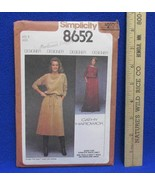Simplicity Misses Womens Pull Over 2 Piece Dress Sewing Pattern Size 8 V... - $5.93