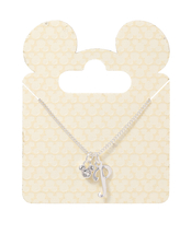 Disney Parks Mickey Mouse Faux Gem Icon Letter Initial P Necklace Silver Color - $28.90