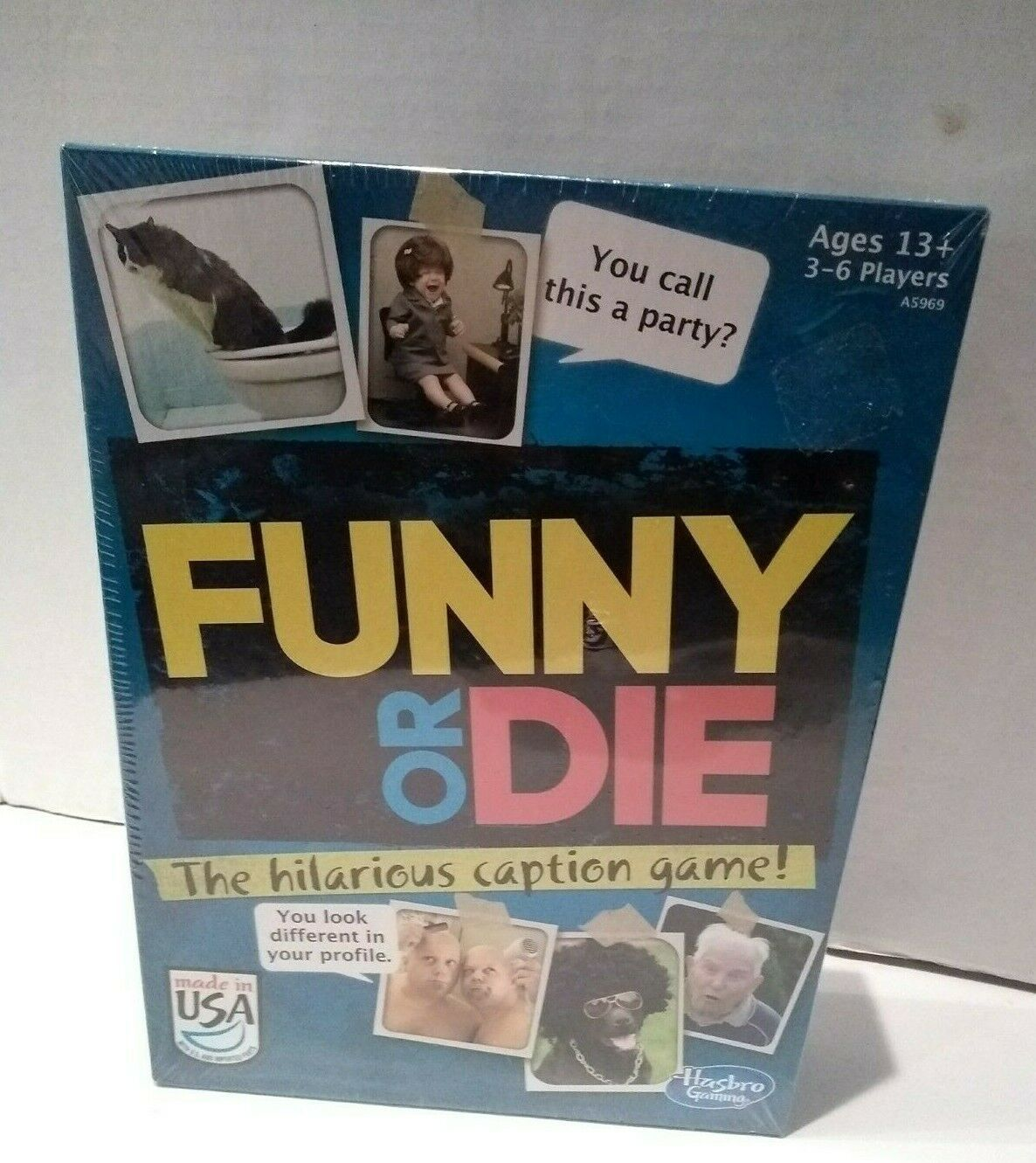 Funny or Die The Hilarious Caption Game Ages 13+ Hasbro Gaming 3-6 Players