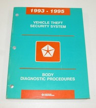 93-95 Chrysler Dodge Jeep Vehicle Theft Security System Diagnostic Manual - $12.82