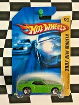 Hot Wheels 2007 New Models FE 001 Dodge Challenger Concept Green 5sp Var... - $4.94