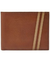 New Fossil Conway Flip Id Bifold Men Leather Wallet Cognac #ML3624222 - $33.16