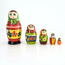 "Vintage Matryoska Nesting Doll Set 5 Dolls From Sweden Hand Painted 3.5""... - $29.99"
