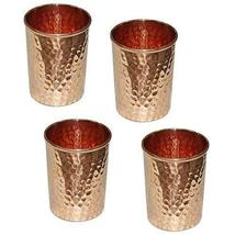 Copper Water Glasses Set of 4, Large Goblets (8.5 oz) Drinking Tumblers ... - $19.75