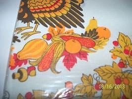 Vintage Thanksgiving Bridge Table Cover Turkey ... - $24.74