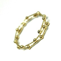 18K YELLOW GOLD MAGICWIRE MULTI WIRES RING, ELASTIC WORKED, SPHERES, SNAKE image 2
