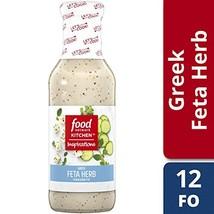Food Network Kitchen Inspirations Greek Feta Herb Vinaigrette 12 oz Bottle