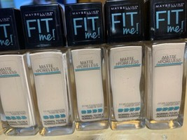 X5 Maybelline Fit Me Matte + Poreless Foundation, 125 Nude Beige NEW - $29.69