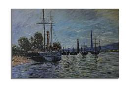 Ansavv European Dock Multicolor Oil On Canvas Painting - $208.00