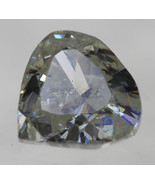 Certified 0.50 Carat F Colour Heart Shape Loose Diamond 5.26x4.94MM Vide... - $305.90
