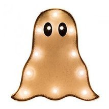 Glitzhome Halloween Marquee LED Ghost Sign Wall Decor Battery Operated - €36,08 EUR