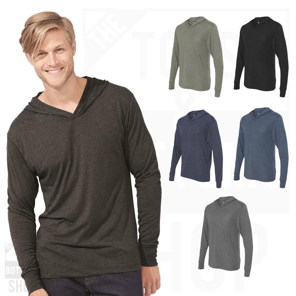 Next Level Premiun Unisex Triblend Hooded Long Sleeve T-Shirt Hoodie - 6021 - $18.29