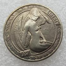 Hobo Nickel style Buffalo 1937 sexy lady fanasty token - $4.99