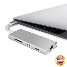 Tasbel USB Type-C Hub, 7 in 1 Multi-Port USB C Combo Hub Adapter with 4K... - $57.75