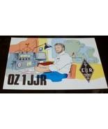 QSL Card.1986 Danish Card. Caricature Image of Radios/Operator. Vintage ... - $14.00