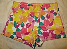 Gymboree Mix N Match Flower Floral Knit Shorts Size L Large 10-12 10 12 - $15.76