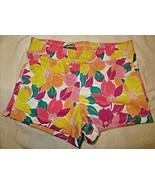 Gymboree Mix N Match Flower Floral Knit Shorts Size L Large 10-12 10 12 - $15.76