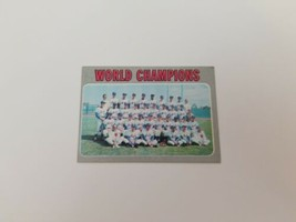 1970 Topps World Champions New York Mets Baseball Card #1 Ex No Creases - $9.74