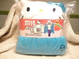 Hello Kitty Wrappie Kids Hooded Wrap Blue/White - $22.76