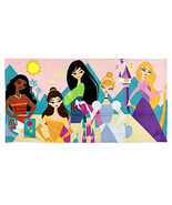 Disney Store Princess Beach Pool Towel Moana Belle Mulan Cinderella Rapu... - $29.02
