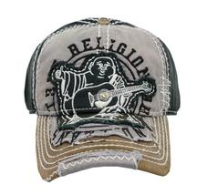 True Religion Men's Premium Vintage Distressed Buddha Trucker Hat Cap TR1101 image 4