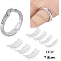 Set Of 14 Invisible Ring Adjuster Size Reducer Jewelry Sizer Guard Clear... - $8.57