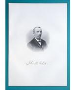 THOMAS WHITE Cleveland Ohio Sewing Machines Manufacturer - 1883  Portrai... - $17.96