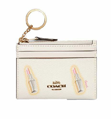 Coach Women`s Mini Skinny Id Case With Lipstick Print (Im(C2921)/Chalk Multi, On