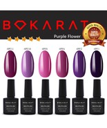 Purple Flower Color Bokarat Gel Nail Polish 7.3 ml Soak Off UV LED High ... - $3.82+