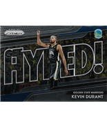 Kevin Durant Prizm 18-19 #6 Get Hyped! Golden State Warriors Oklahoma City  - $2.00